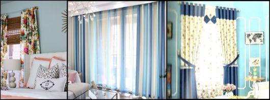 como usar cortina estampada na decoração