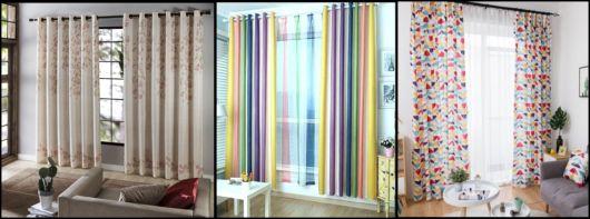 fotos e ideias com cortina estampada