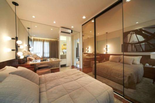 móveis de quarto com espelho fumê