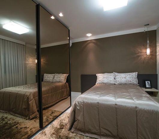 espelho fumê com cama de casal