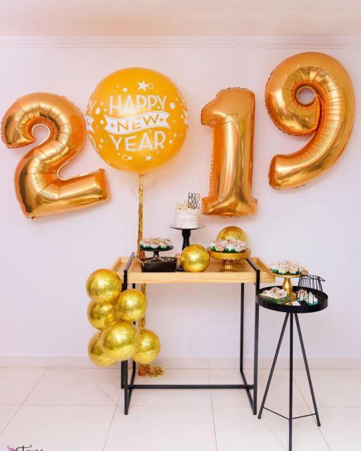 Decoração de Ano Novo simples