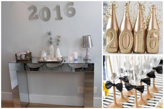 Decoração de Ano Novo simples e barata