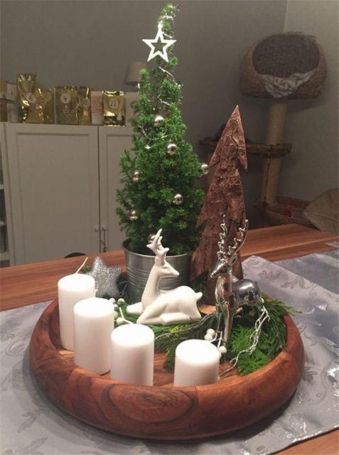 decoração simples mesa de centro