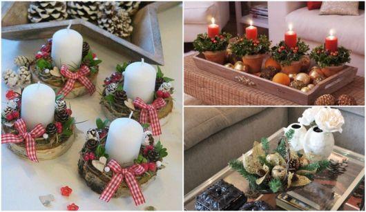 decoração de natal mesa de centro