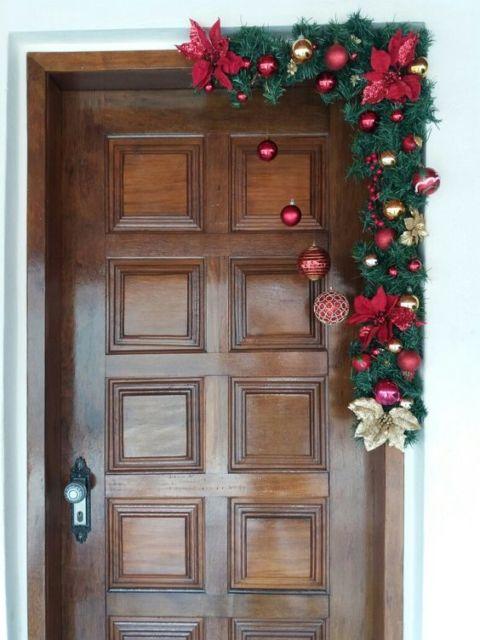 enfeite simples para porta