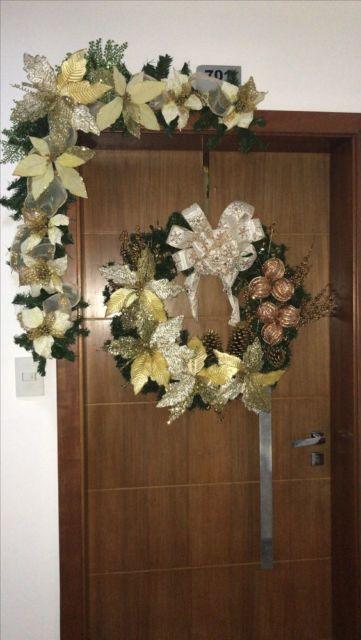 decoração porta de entrada