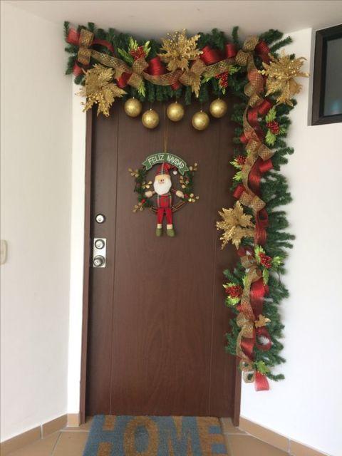 decoração porta principal