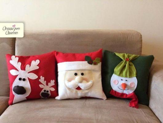 almofadas decoradas com feltro
