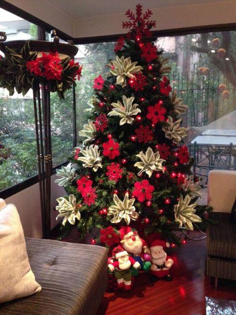 decoração com árvore de natal