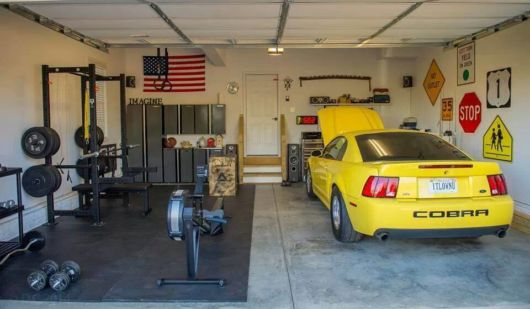 garagem simples e bonita mini academia