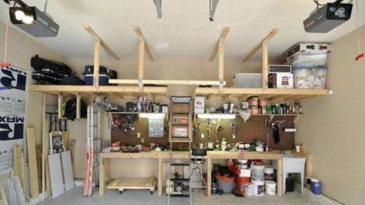 garagem simples e bonita com organização