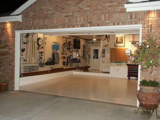 garagem simples e bonita e muito organizada