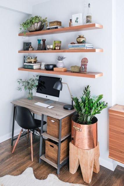 home office rústico