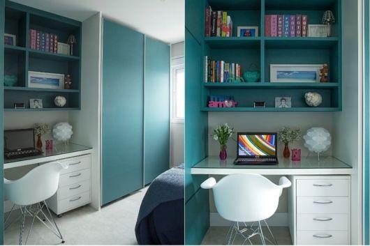 quarto com home office