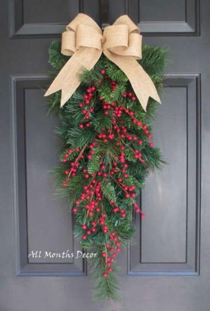 decoração porta natal