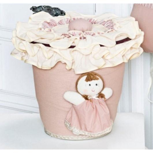 lixeira para quarto de bebê boneca de pano