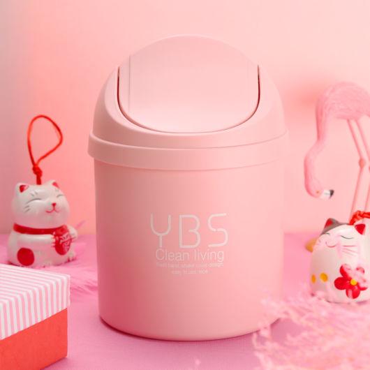 lixeira para quarto de bebê rosa