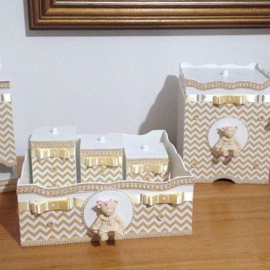 lixeira para quarto de bebê ursinho