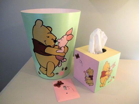 lixeira para quarto de bebê ursinho pooh