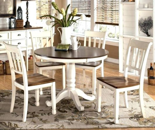 mesa de jantar retrô redonda quatro cadeiras