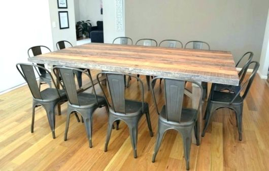 mesa de jantar retrô simples e barata