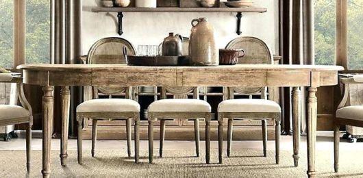 mesa de jantar retrô madeira sem acabamento