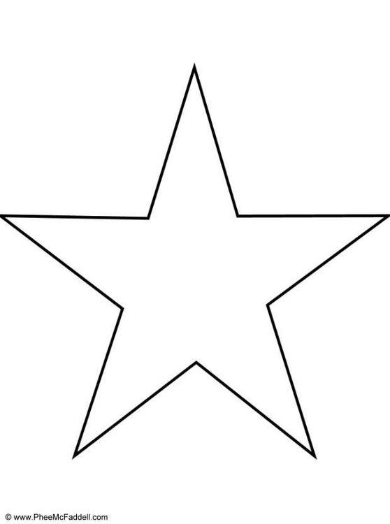 molde simples estrela grande