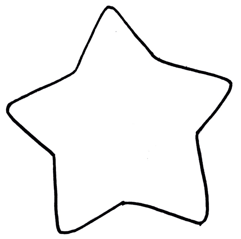 molde estrela grande grátis