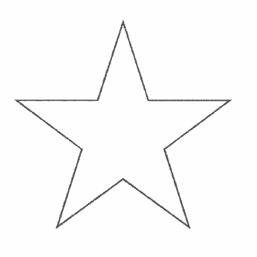 estrela para impressão