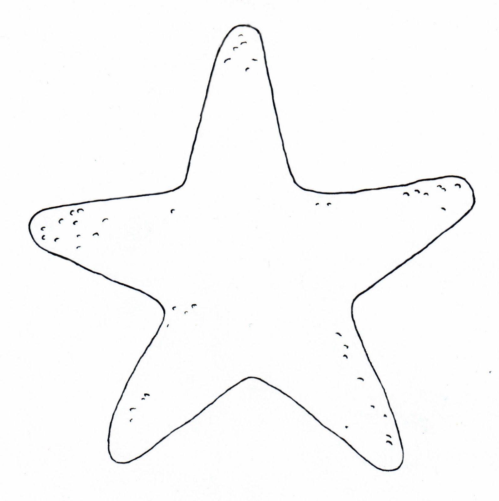 molde simples estrela-do-mar