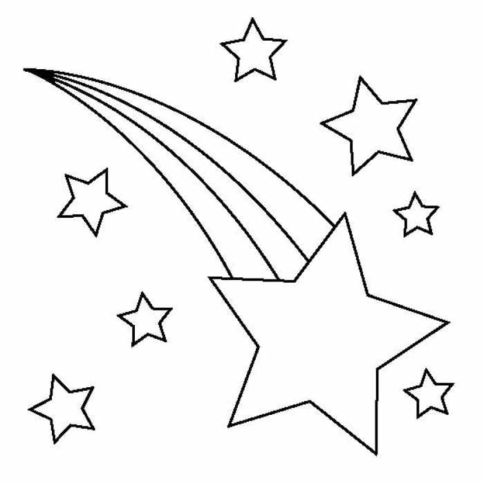 molde estrela cadente