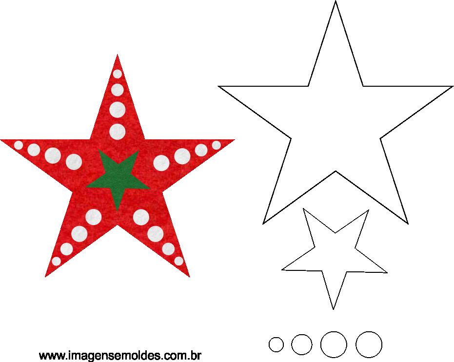 molde estrela natalina