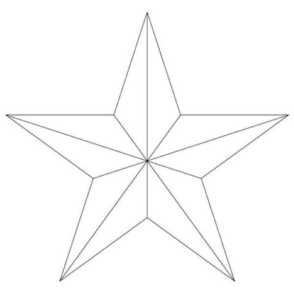 estrela árvore de natal