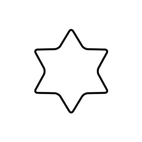 molde estrela de 6 pontas