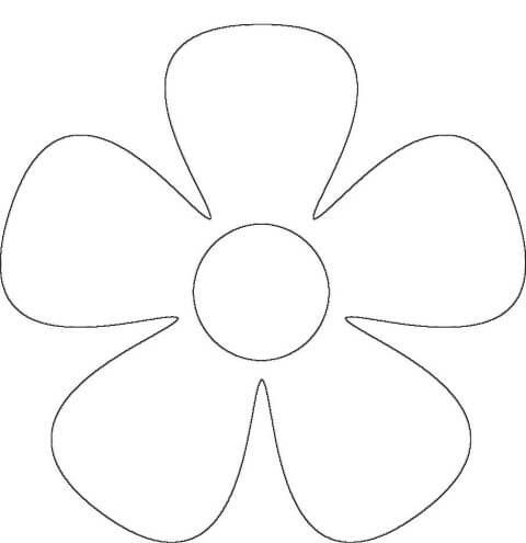 Moldes de flores de feltro