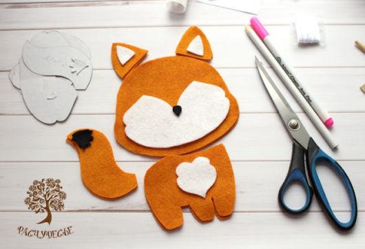 Molde de feltro raposinha