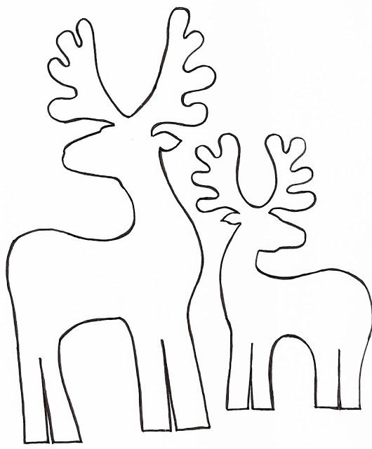 Molde de natal de feltro
