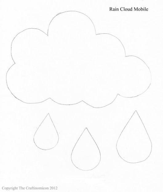 Molde de nuvem chuva de amor