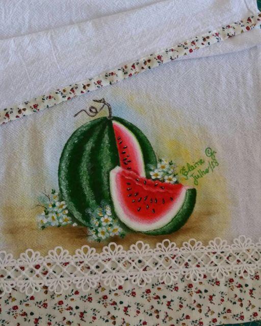 pano de prato de melancia