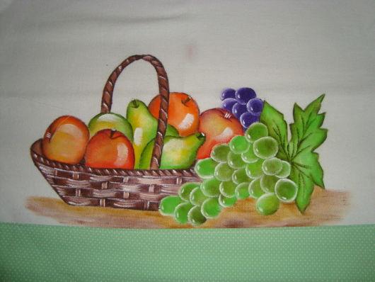 desenho frutas pano de prato