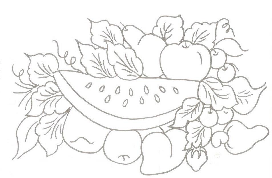 desenho frutas risco