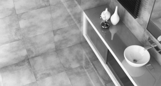 porcelanato cinza na sala