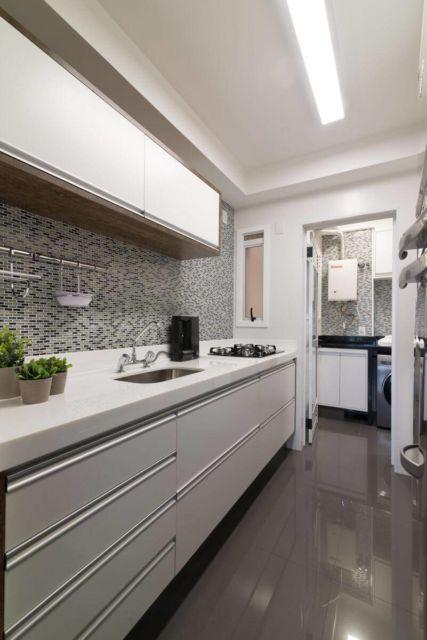 porcelanato cinza na cozinha