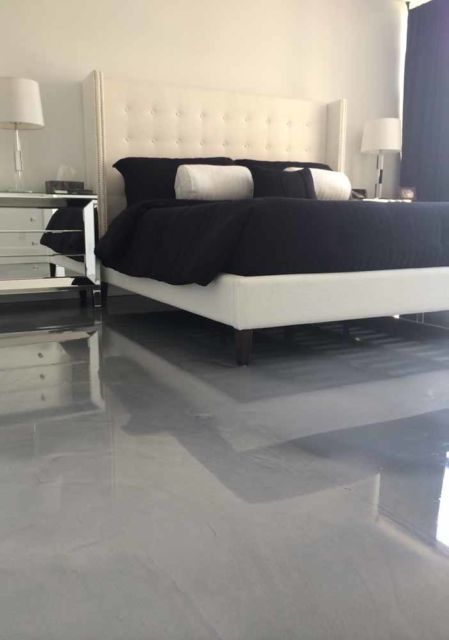 porcelanato cinza no quarto