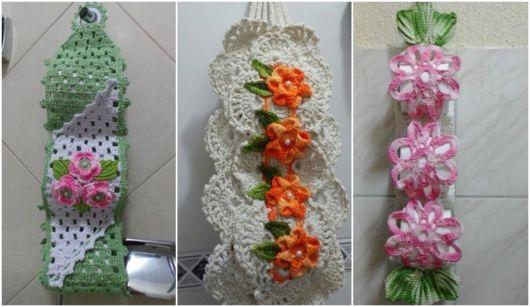 modelos com flor de crochê