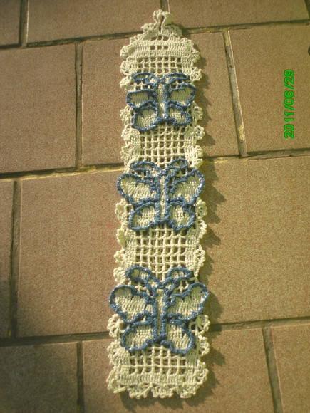 decoração com borboleta de crochê