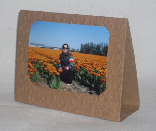 porta-retrato de papelão