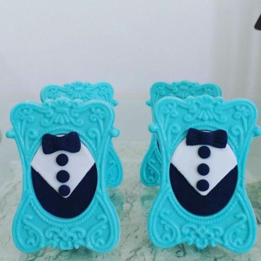 porta-retrato azul