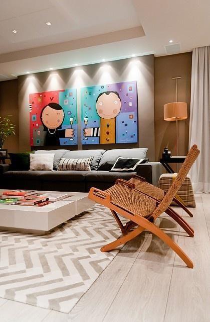 quadro colorido e divertido sala