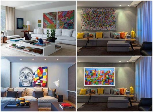 modelos de quadros coloridos